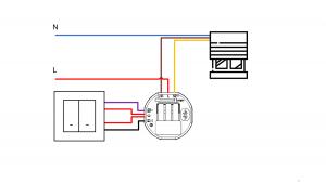 Schéma de câblage d'un volet roulant connecté