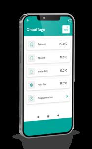 Une application mobile le contrôle de votre habitat connecté