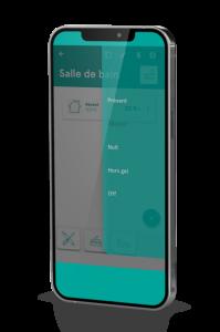 Interface de l'application mobile Dooz en mode à distance