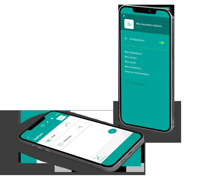Interface de l'application mobile Dooz